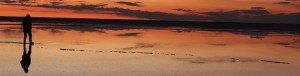 ウユニ塩湖夕焼け画像