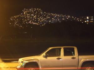 見上げる夜景